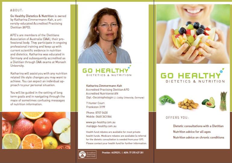 go healthy flyer go healthy dietetics nutrition